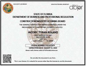 First Service CGC License