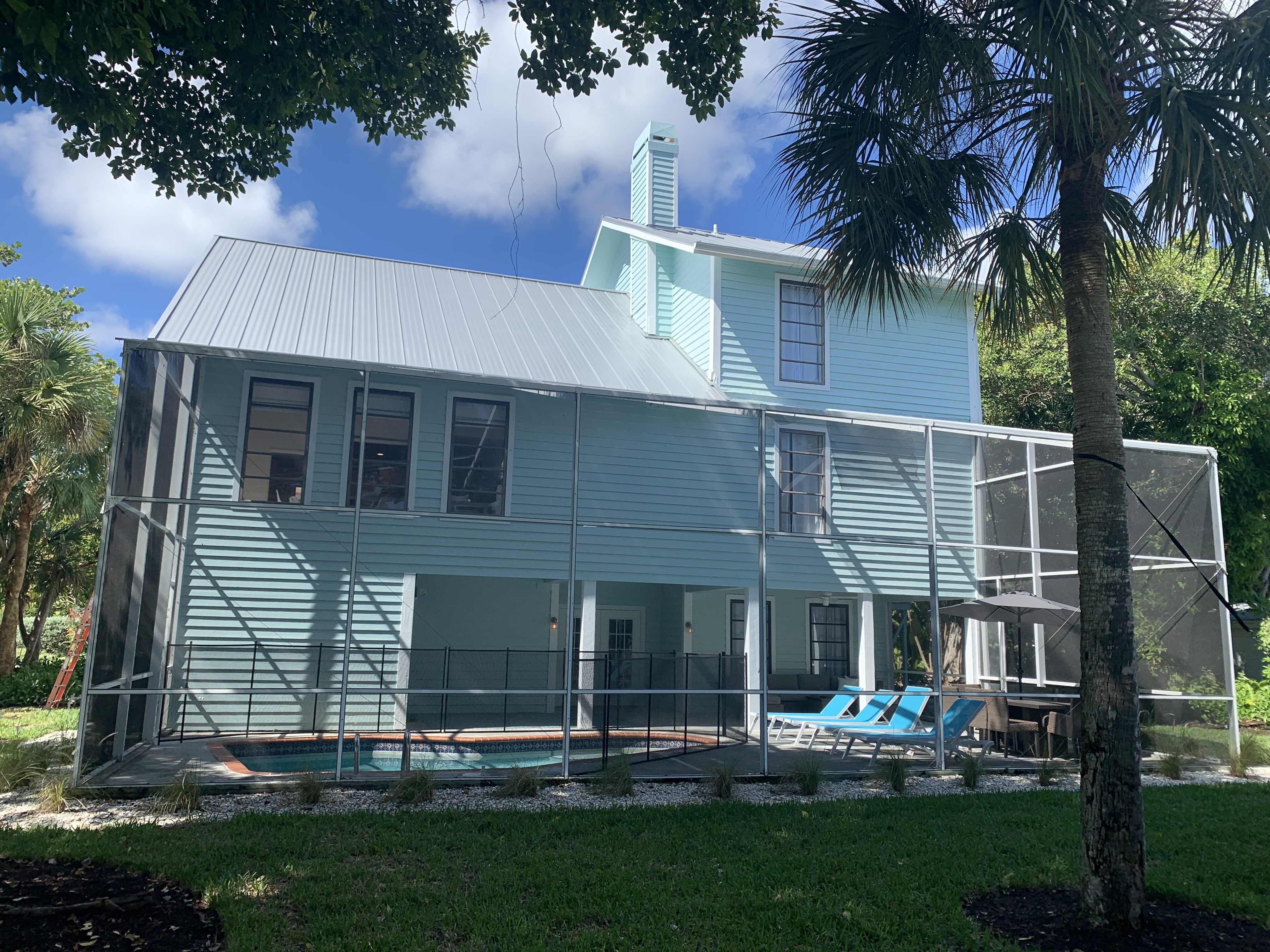 Sanibel Residential Roof Replacement And Exterior Re Paint First Service Roofing Painting Restoration